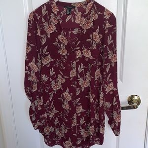 Long floral blouse Forever 21 size M